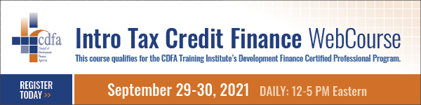 Intro Tax Credit Finance WebCourse