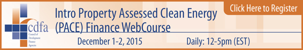 Intro Property Assessed Clean Energy Finance WebCourse