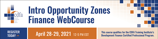 Intro Opportunity Zones Finance WebCourse